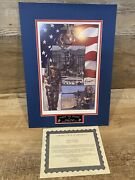 Signed First To Fight Us Marines Lithograph Ltd Print Anthony Douglas W/ Coa