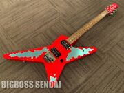 Edwards E-rs-145g/r Red Pointed Shape Electric Guitar Ships Safely From Japan