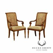 Ethan Allen Townhouse Pair Modern Addison Dining Armchairs