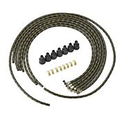 1935 Plymouth Brand New Spark Plug Wires Black And Gold Lacquer Wire Set Mopar