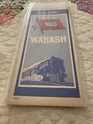 1933 Wabash Railroad Time Table Excellent Condition See Pictures