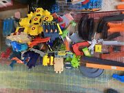 Lot Of 225+ Pieces Vintage And Modern Hotwheels Tracks Accessories