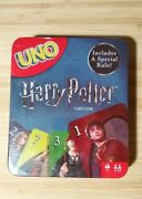 Harry Potter Uno Card Game In Collectible Metal Tin Special Rule New And Sealed