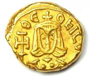 Ancient Byzantine Theophilus Av Solidus Gold Coin 829-842 Ad - Xf Condition