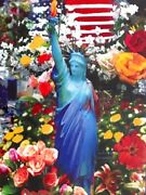 Peter Max Original- Land Of The Free Home Of The Brave Ii Unique 2005 40x34
