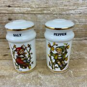 Vtg Hummel Salt And Pepper Shakers Classic Boy And Girl Collectible Japan Authentic