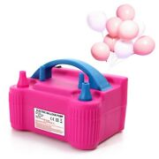 Electric Balloon Pump Portable Inflator High Power Two Nozzle Air Blower Party