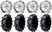 Fuel Runner 20 Wheels Polished 35 Interforce 628 Tires Rzr Xp 1000 / Pro Xp