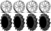 Fuel Runner 22 Wheels Polished 35 Motohavok Tires Honda Pioneer 1000 / Talon