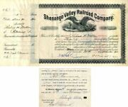 Shenango Valley Railroad Company Issued To And Signed By Richard K. Mellon - Sto