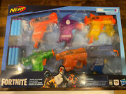 Nerf Fortnite Micro Ice Storm Blasters Collection Set Of 6