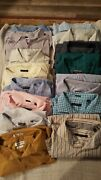 Men's Big And Tall Dress Shirt Lot 15pc Excellent Used Condition Button Front