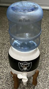Raiders Mini Crock Beverage Dispenser And Water Bottle W/wooden Base Complete Rare