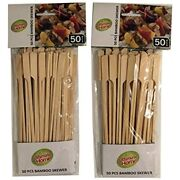 Ultimate Home Bamboo Skewers - 50 Pcs Perfect For Bbq Andamp Grilling Garden
