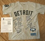 Beckett 1968 World Champion Detroit Tigers 40th Jersey Signed By 26 Autographed