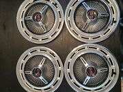 Four Vintage 1965-66 Chevrolet Chevy Impala Chevelle Ss Hubcaps Wheel Covers