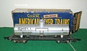 American Flyer S Gauge Shell Single Dome Tank Car 625 With Box Item Ccs26