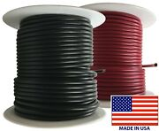 2 14 Gauge Wire 100 Ft Red And Black Primary Awg Automotive Stranded Copper Usa