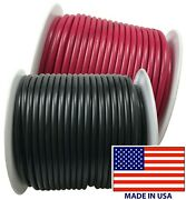 2 12 Gauge Wire 100 Ft Red And Black Primary Awg Automotive Stranded Copper Usa