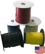 5 Spools 12 Gauge Wire 100 Ft Primary Awg - Red Black White Blue Yellow - Usa