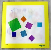 Mid Century Modern Unframed Infinity Yaacov Agam Signed Holograph Agamograph