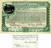 Baltimore And Ohio Railroad Company Issued To And Signed By James Woolworth - St