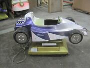 Coin Operated Racing Car, Formula 1 Grand Prix Kiddie Ride Indy 500 Purple