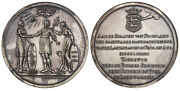 Neth. Friesland. 1782-dated Ar Medal. Ngc Ms62 Frisia Greets America Betts 602