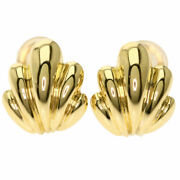 And Earring Clip Type K18 Yellow Gold