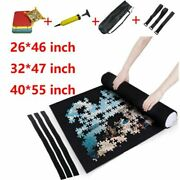Puzzles Mat Jigsaw Roll Felt Mat Play Blanket For Up To 3000 Pcs W/storage Bag