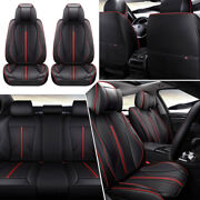 Updated Pu Leather Car Seat Cover Universal 5-sit Protectors Cushion Front Rear