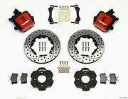 Wilwood Combination Parking Brake Rear Kit 11.00in Drilled Red Civic / Integra D