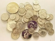 90 Silver Coins Mixed Uncirculated Lot 10 Face Value  Bcs/z1