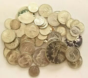 90 Silver Coins Mixed Uncirculated Lot 10 Face Value   Bcs/z2