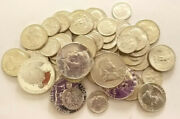 90 Silver Coins Mixed Uncirculated Lot 10 Face Value  Bcs/z4