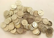 90 Silver Coins Mixed Uncirculated Lot 10 Face Value Bcs/z6