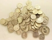 90 Silver Coins Mixed Uncirculated Lot 10 Face Value  Bcs/z7