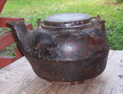 Rare Antique 1883 Terstegge Gohmann And Co Albany Ind. Cast Iron Teapot Kettle