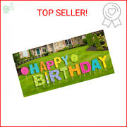 Happy Birthday Yard Sign 15 Pcs Stakes Included Outdoor Party Lawn Decoration