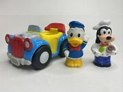 Fisher Price Little People Donald Duck, Goofy, And Bouncing Car Magic Of Disney