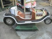 Coin Operated Vintage Antique Hot Rod Race Car Kiddie Ride Brown