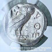 Attica Athens Tetradrachm Coin 440-404 Bc Ngc Xf F/s From Jpn W/tracking 8966n