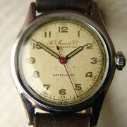 Mens Wwii Period Vintage H.moser And Cie Military Wristwatch Good Condition