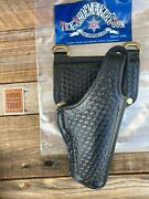 Tex Shoemaker Black Basketweave Leather Lined Duty Holster For Beretta 92f / 96
