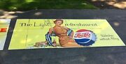 1950and039s Pepsi - Cola Billboard Sign - Professionally Mounted