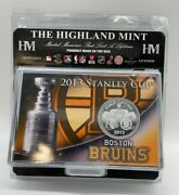 2013 The Highland Mint Hockey Boston Bruins Stanley Cup Finals Coin Blackhawks