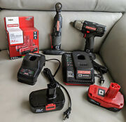 """Craftsman C3 19.2 Volt Power Tools 1/2"""" Impact Wrench And Max Axess Power Ratchet"""