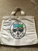 Miracle On Ice 1980 Olympic Hockey Puck Bag W/herb Brooks Auto Psa/dna Authentic