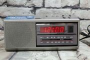 Ge Two Wake Times Am Fm Clock Radio Model 7-4637a Perfect Working W/stickers