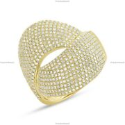 Gift For Her 14k Yellow Gold Natural Diamond Bypass Band Birthday Ring